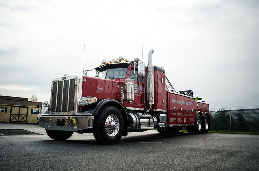 Century 5130 Peterbilt heavy-duty wrecker built by Bressler's, Inc.