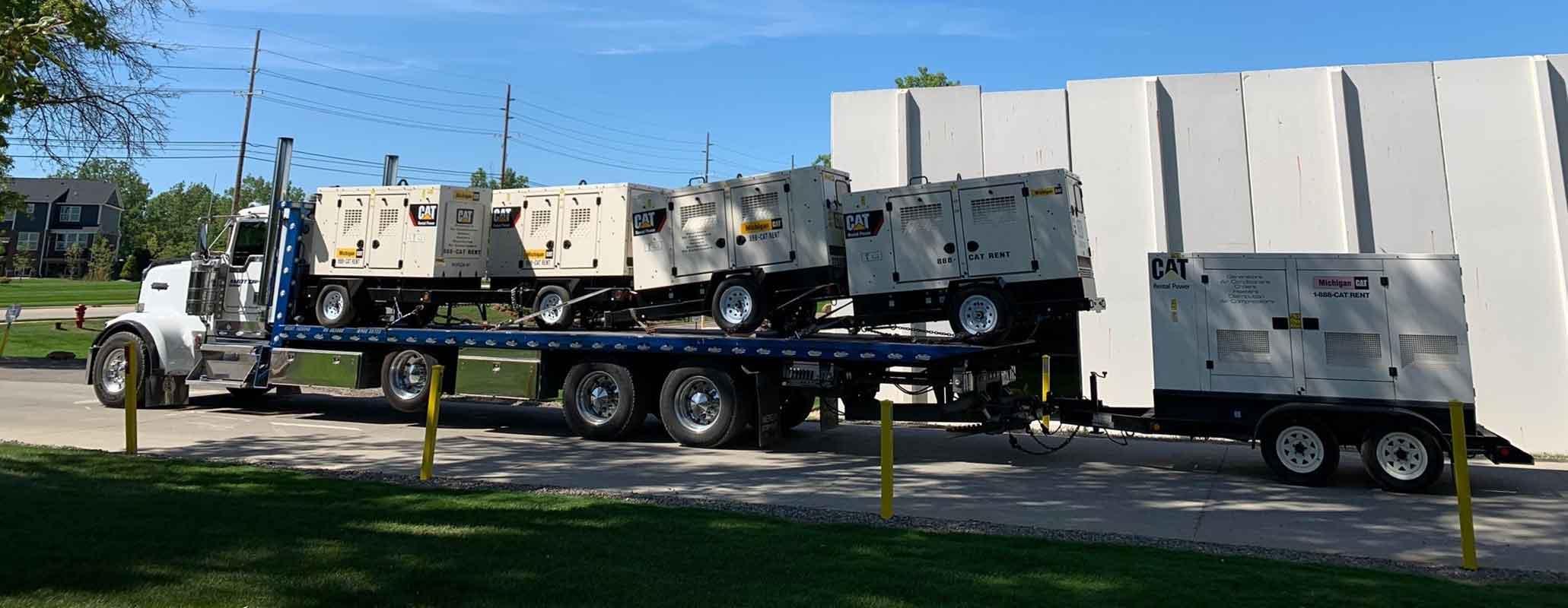 Century LCG Industrial Carrier hauling generators