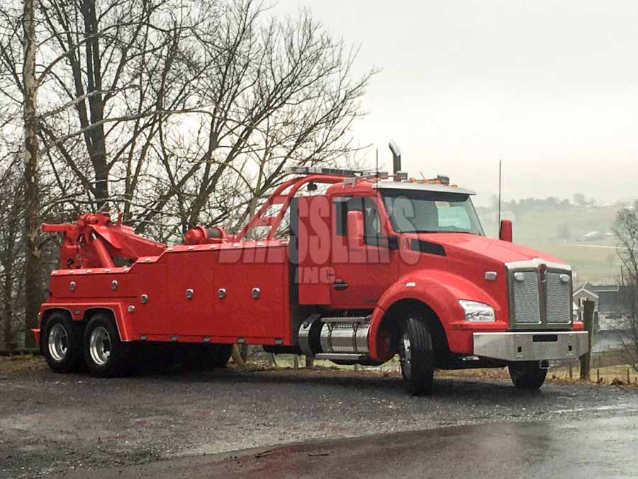 Kenworth Vulcan heavy-duty wrecker built by Bressler's, Inc.