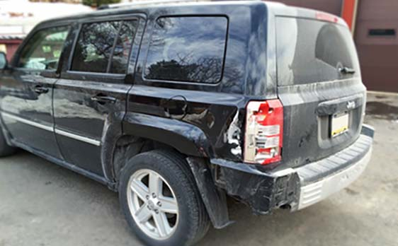 Jeep Compass with Rear End Damage