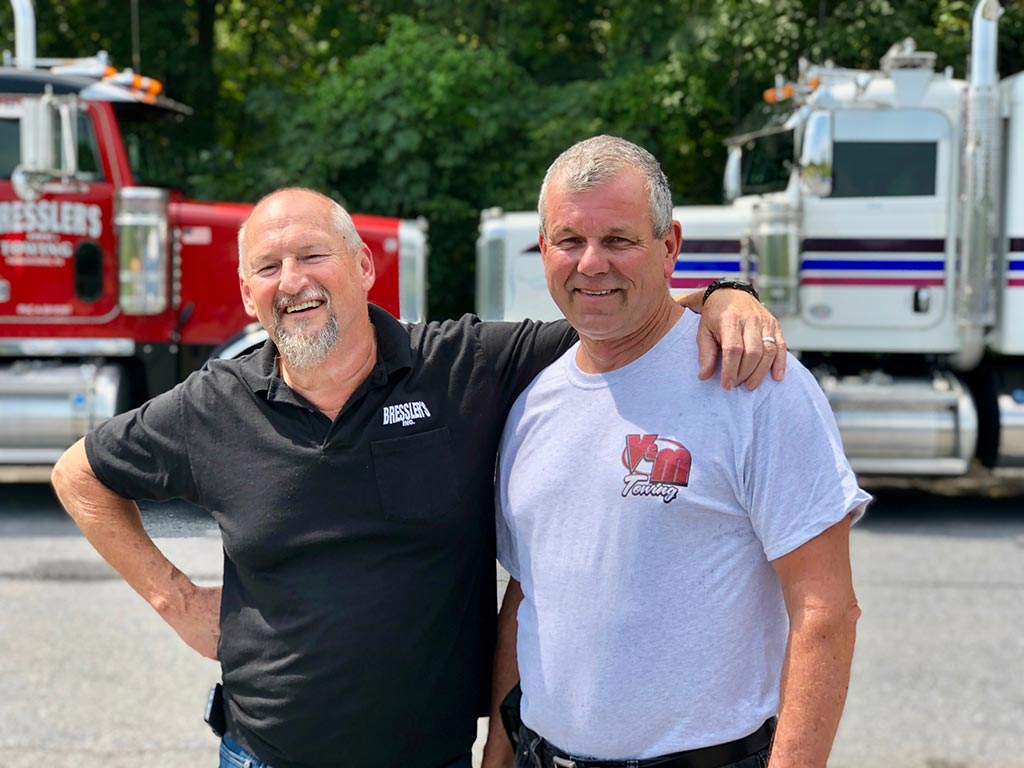 Ron Bressler and Vince James