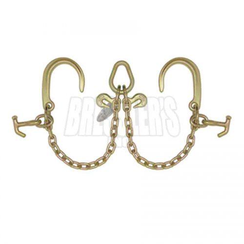 B/A Products N711-8DH V-Chain; 8 Inch J Hooks & Hammerhead™ T-J Combo Hooks
