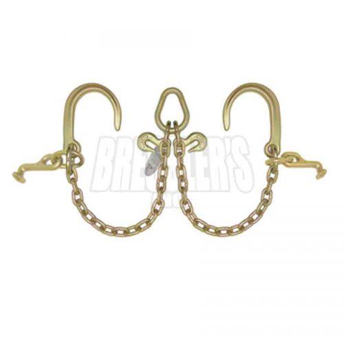 B/A Products N711-8DT V-Chain; 8″J Hooks & T Hooks
