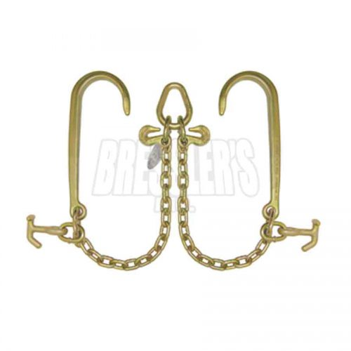 B/A Products N711-8H V-Chain; 15 Inch J Hooks & Hammerhead™ T-J Combo Hooks