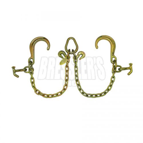 B/A Products Z11-8DH V-Chain with 8 Inch Classic Style J Hooks and Hammerhead™ T-J Combo Hooks