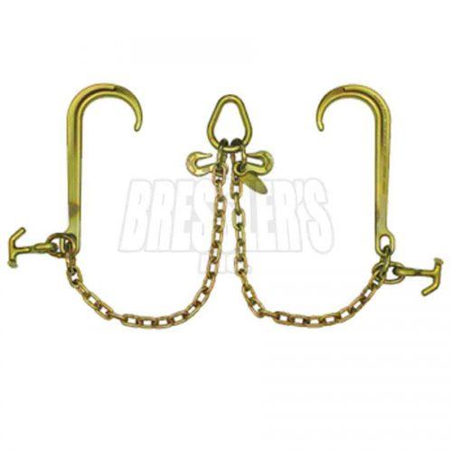 B/A Products Z11-8H V-Chain; 15 Inch Classic Style J Hooks & Hammerhead™ T-J Combo Hooks
