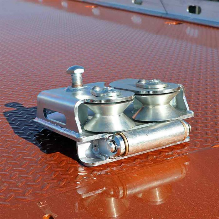 Miller Industries Approach Plate Roller Guide attachment for 10, 12, and 16-Series steel car carriers.
